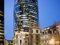 Swiss Re building, 30 St. Mary Axe building, Architect Lord Norman Foster, London, England